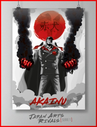 Poster manga AKAINU Japan Art Rivals