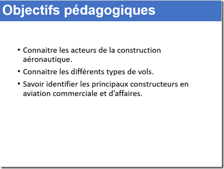 Les objectifs pédagogiques mes documents efficaces