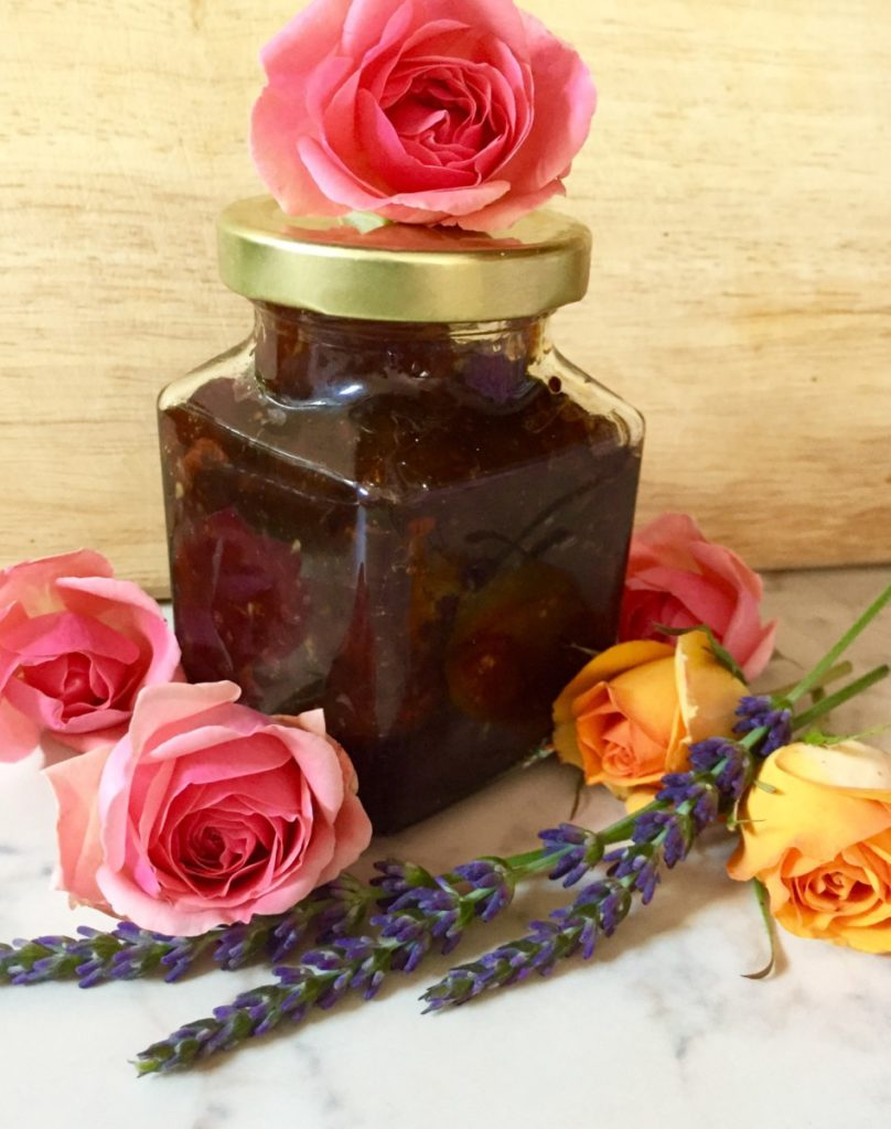 rose petal and orange jam