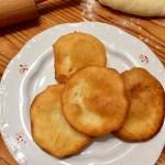 Hungarian potato langos