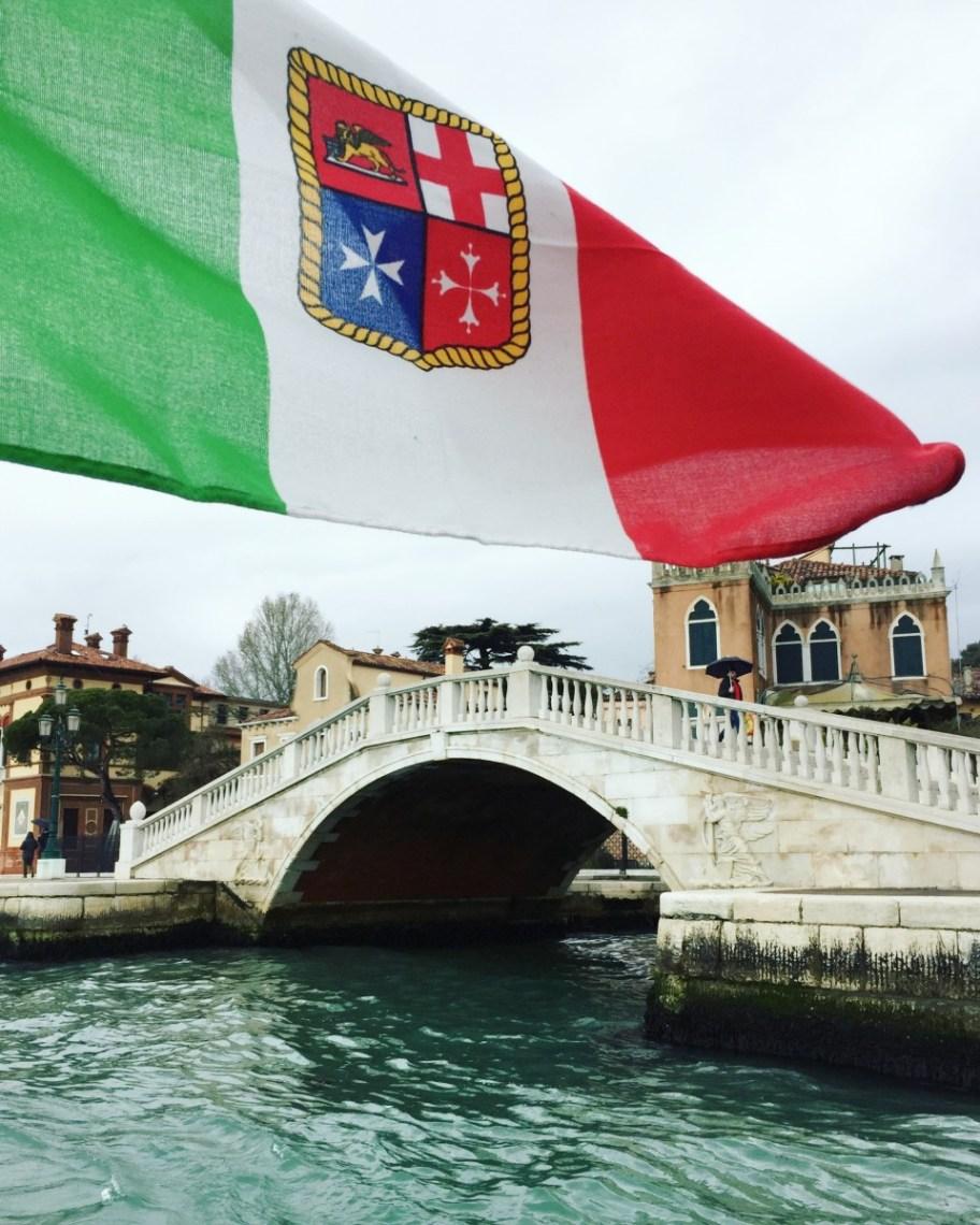 Venice Italian flag