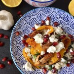 Pearl Barley with Harissa Spiced Grilled Vegetables and Feta Cheese