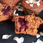 chocolate black cherry muffins
