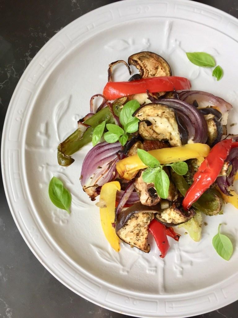 Halogen oven roasted vegetables