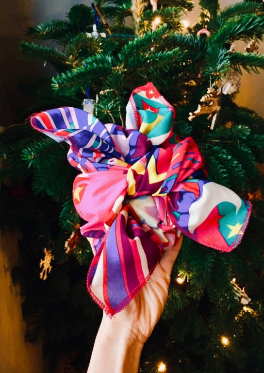cloth christmas wrap