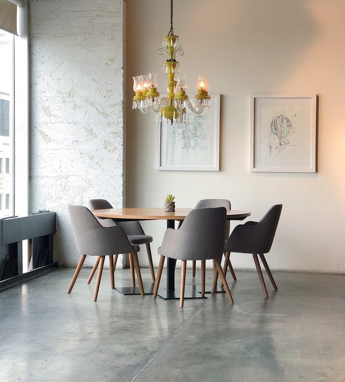 concrete floor dining table