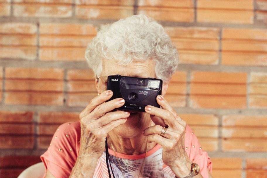 old women camera
