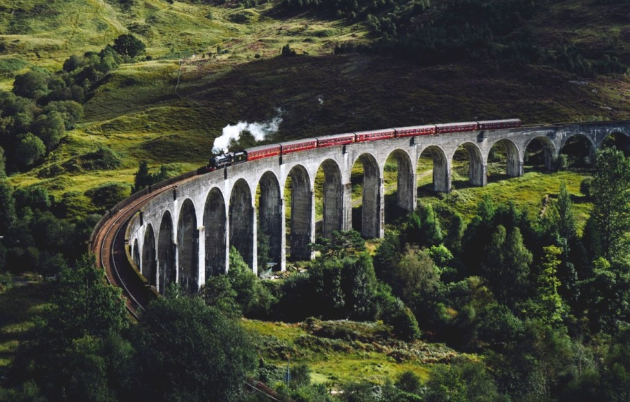 train viaduct in scotland