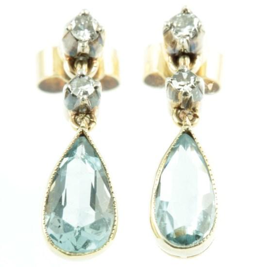 Edwardian-Aquamarine-and-diamond-earrings