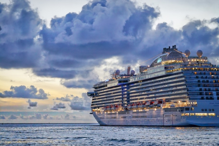 cruise ship on ocean. Make cruising more environmentally friendly.