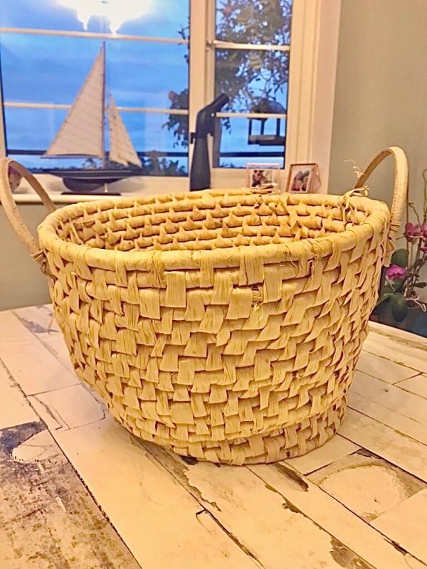 old seaweed basket