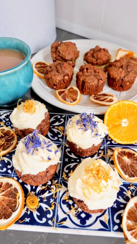 vegan chocolate orange cupcakes