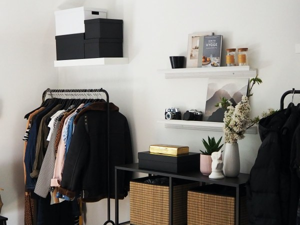 Organised room. How to declutter ethically.