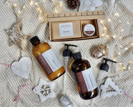 Organic Savanna products: Ethical Christmas Gifts.