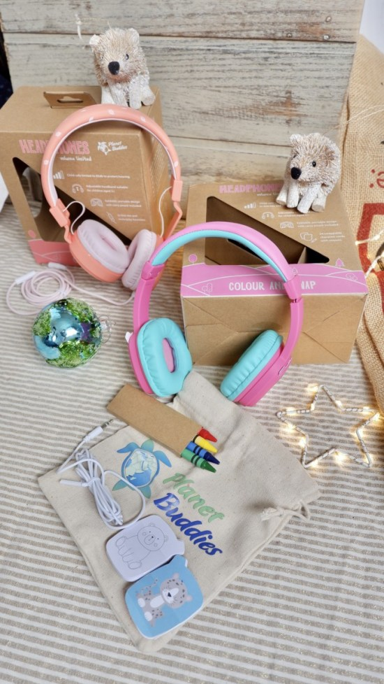 Planet Buddies headphones: Ethical Christmas Gifts For Kids