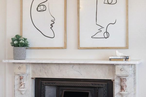 fireplace wall art decor
