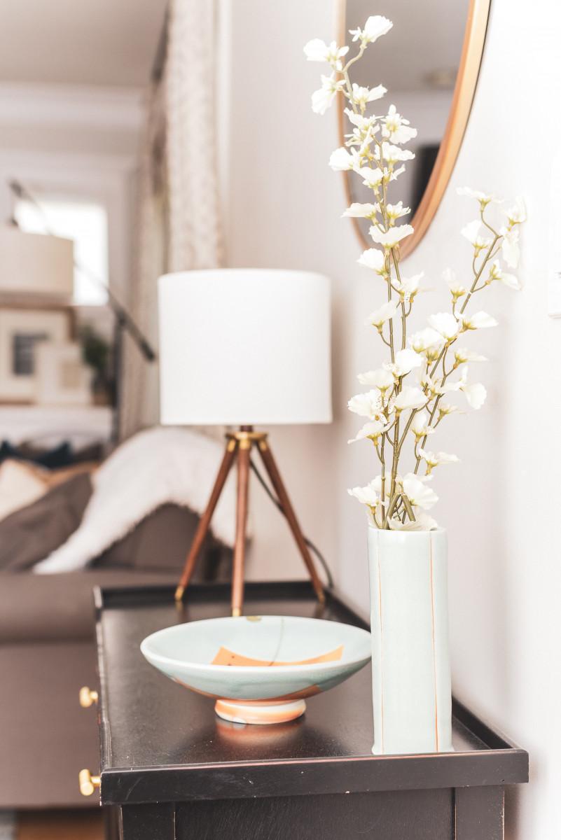 lamp interior flowers