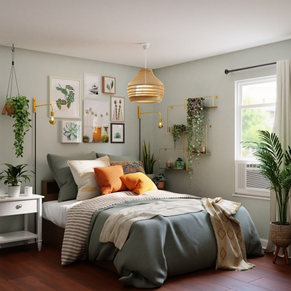 bed bedroom interior home