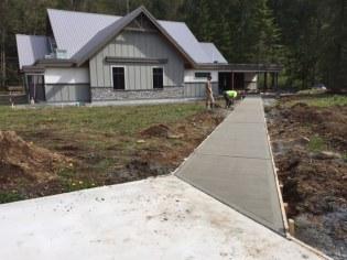 Concrete walkway in stillwood, Chilliwack