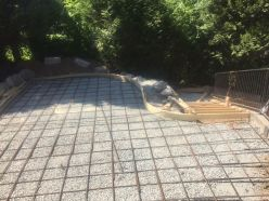 Forms rebar concrete patio