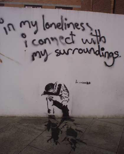 Risultati immagini per street art loneliness