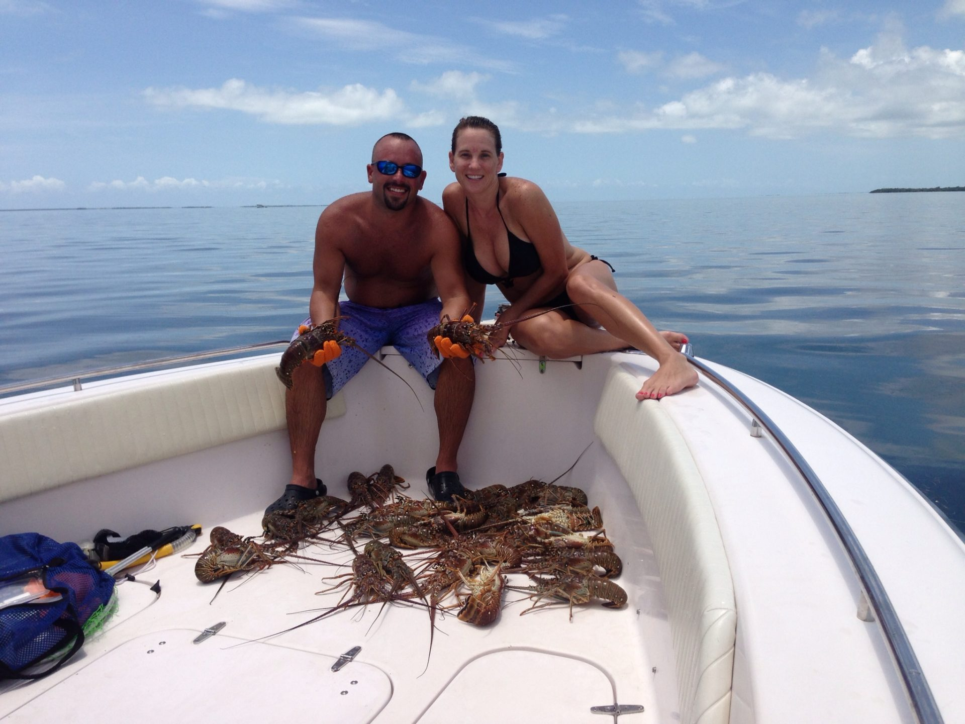First day of mini season was a success! We got our limit of lobster off Marathon in the Fl Keys by noon. Make sure you ask Capt. Doug about a custom lobster and fishing charter.