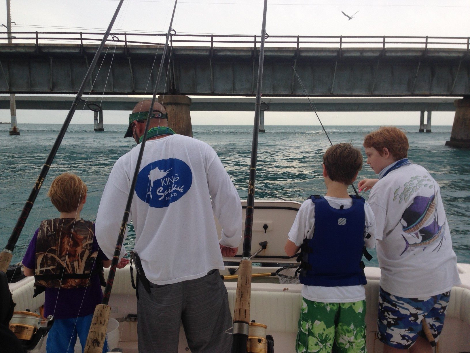 Family charter fishing at its best off Marathon in the Florida Keys with Capt. Doug.