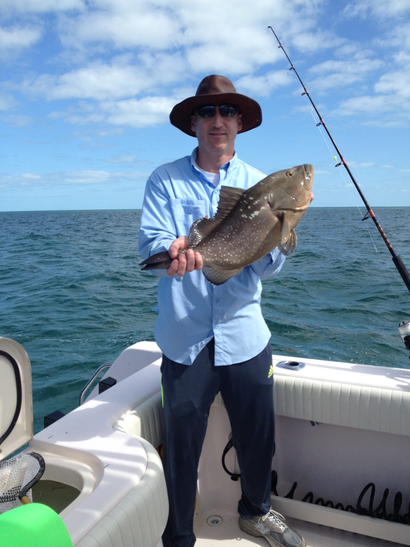 Jason's red grouper was great on light tackle!