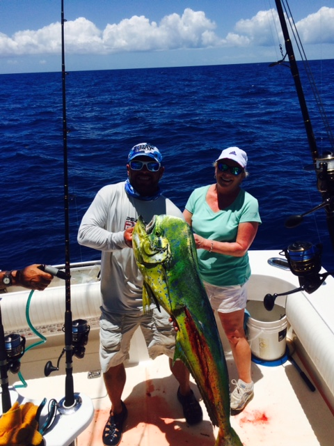 We caught this big bull dolphin on a charter off Marathon in the FL Keys.