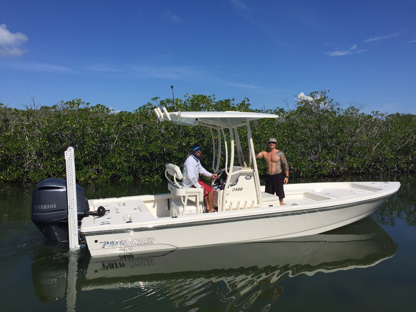 We just added this 2015 24ft Pathfinder to our fleet here at Florida Keys fishing charters in Marathon.