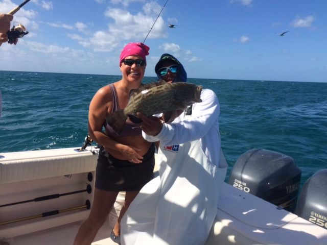 We release this black grouper on a 3/4 fishing charter off Marathon last week. Grouper season is coming!!