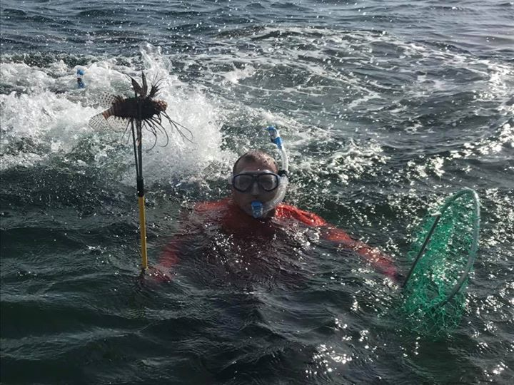 Lion fish removal during lobster mini season. Protect our reef from the invasive…