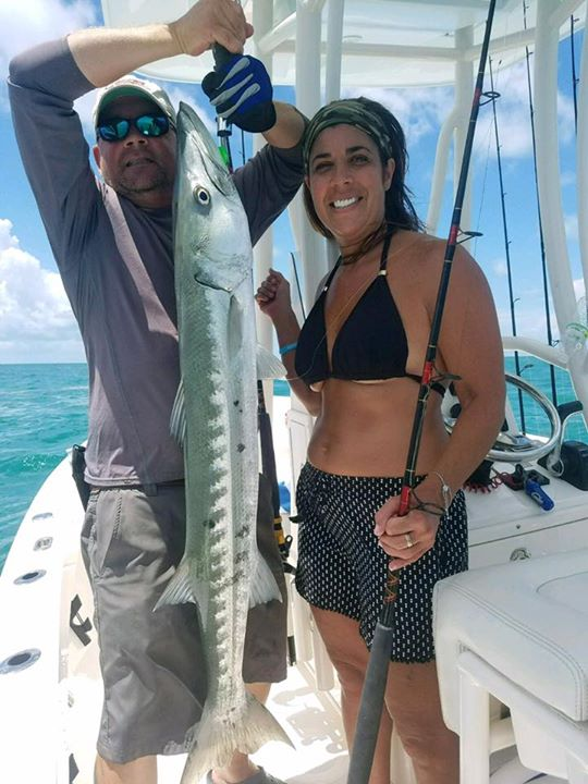 Nice barracuda Judy PerPal caught this morning on Lil Hooked Up with Capt. Roy B…