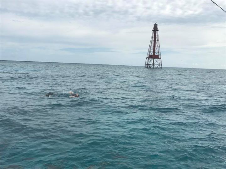 Snorkeling at sombrero light house.  Nice way to breaking up a day of fishing. W…
