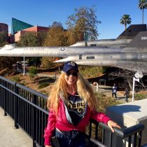 "I was sooo excited to see my fav jet – now as a ""Jet on a Stick"" here at USC!! SR-71 (YF11) Lockheed Skunk Works Marvel"