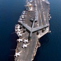 And….what is wrong with this pic? Ha! I love B-52s but not on an aircraft carrier! Would make for an interesting trap!