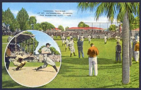 A 1930s era postcard from Yankees Spring Training in St. Petersburg.