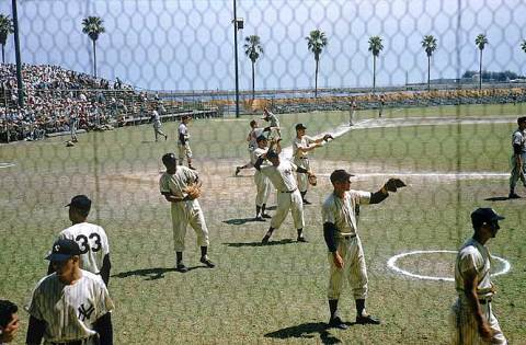 A scene from Spring Training in 1957.
