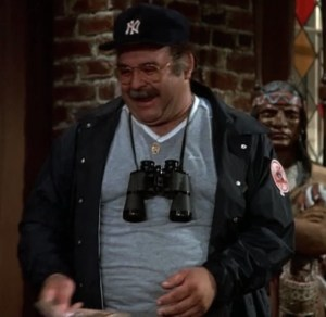 Big Eddie is a Yankee fan out of central casting.