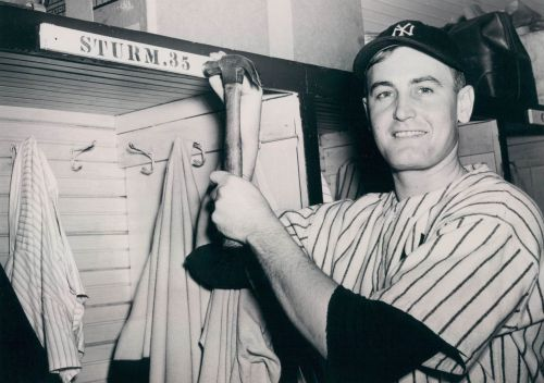 Johnny Sturm attaches his nameplate in 1941. It would only hang there for one season.