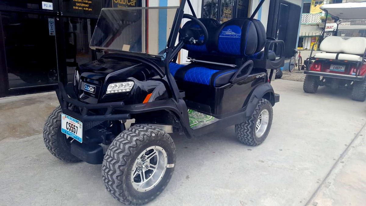 Onward Golf Cart Blue Black