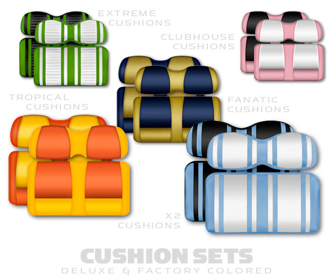Golf Cart Deluxe Cushion Sets