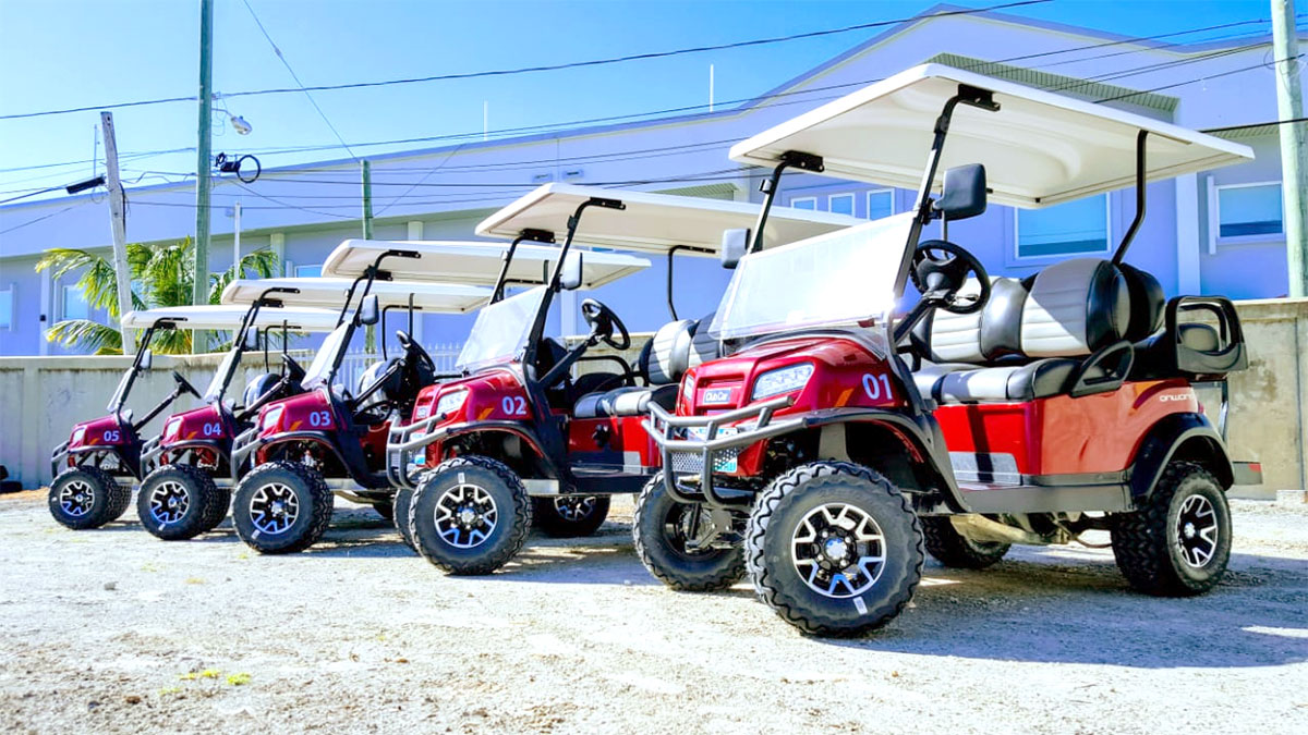 Cherry Onward Golf Carts purchased by Island Depot