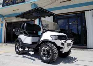 used custom white club car alpha precedent golf car