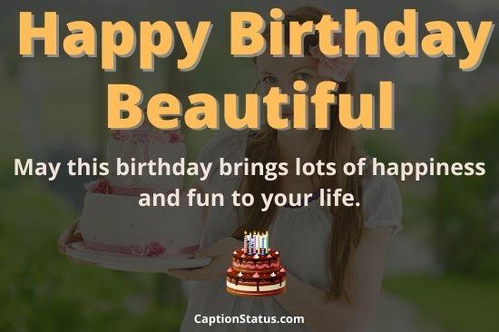 Happy Birthday Beautiful Wishes (Friend, Lady, Girls & Niece)