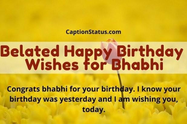 Belated Happy Birthday Wishes for Bhabhi