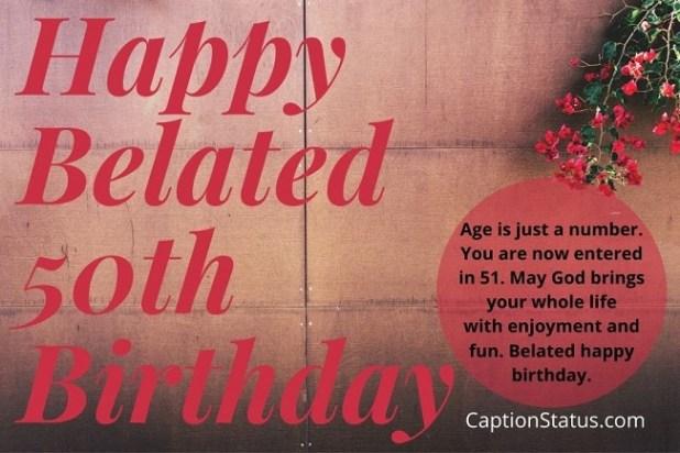 Happy Belated 50th Birthday