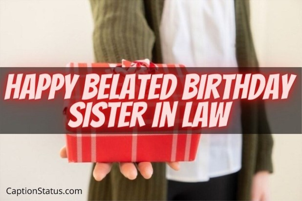 Happy Belated Birthday Sister in Law