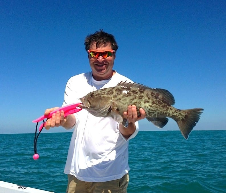 Grouper caught offshore of Captiva on Sanibel & Captiva charters!