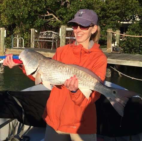 Captiva Fishing, Big Redfish, 3-29-15, Sanibel Fishing & Captiva Fishing & Fort Myers Fishing Charters & Guide Service.